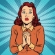 Scared Woman Hands Folded in Prayer - GraphicRiver Item for Sale