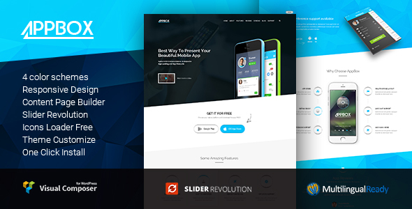 AppBox - App  Landing & App Store WordPress Theme - Software Technology