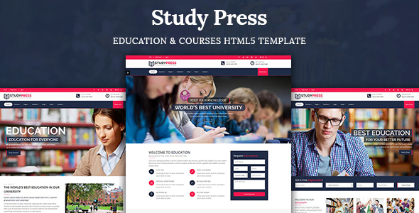 StudyPress – Education & Courses HTML5 Template