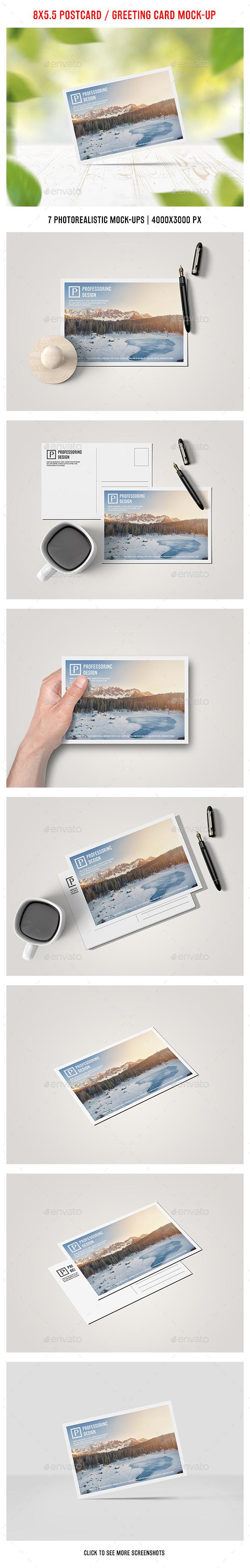 8x5.5 Postcard / Greeting Card Mock-Up