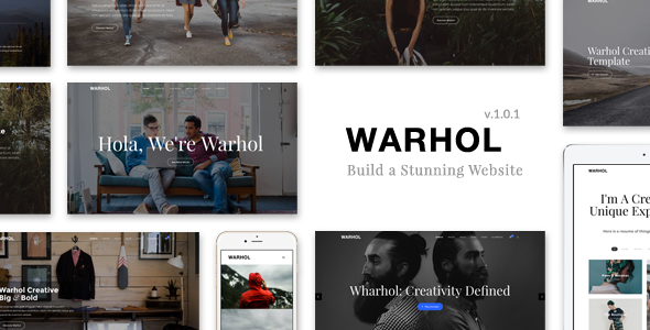 Warhol - Creative Multipurpose HTML Template - Creative Site Templates