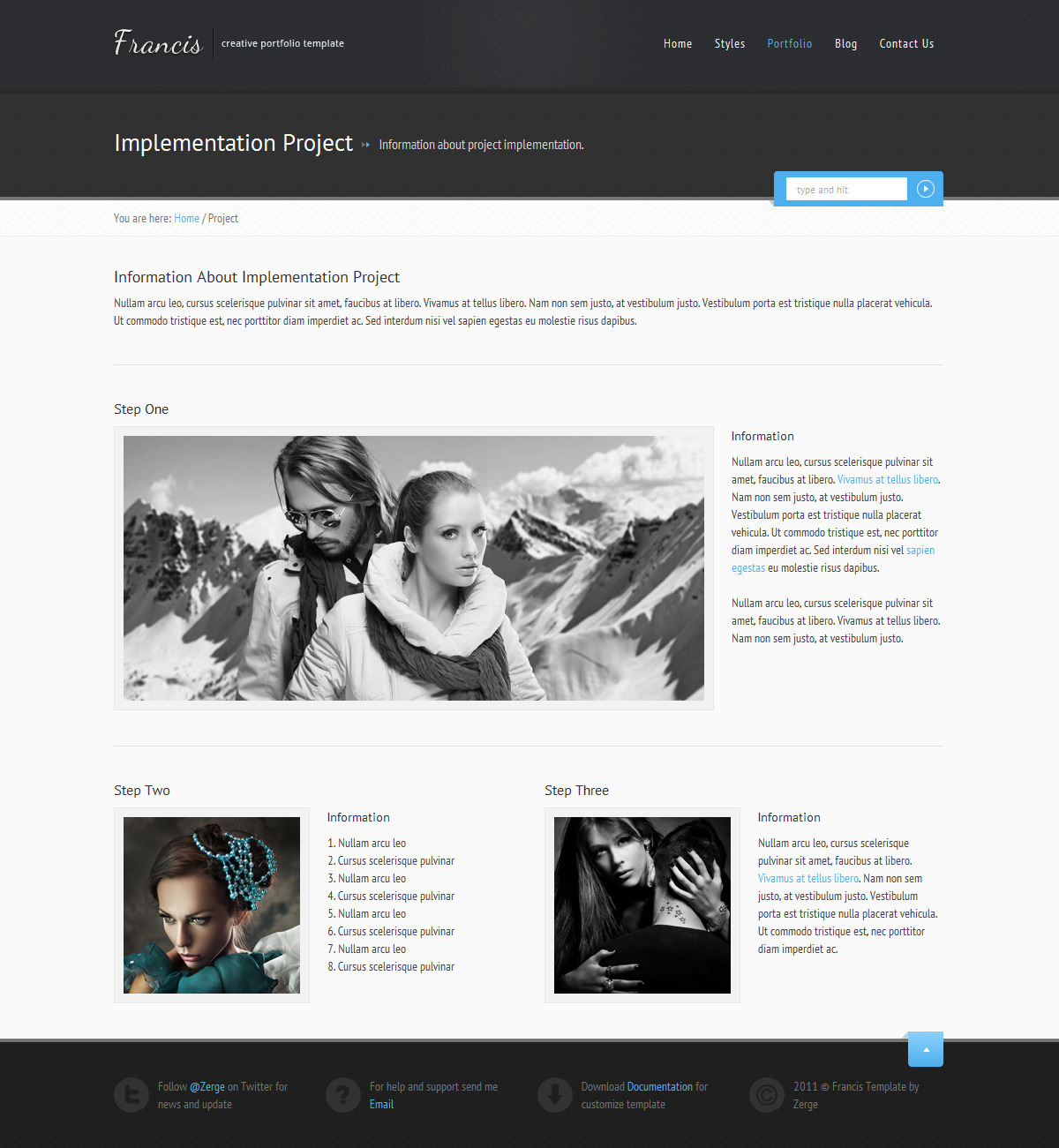 Francis - HTML5 CSS3 Template by ZERGE   ThemeForest