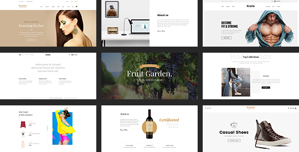 SCARA Multiple PSD Template for Online Store
