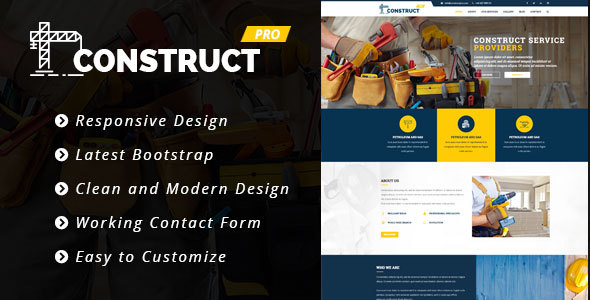 Construct Pro – HTML5 Construction & Business Template