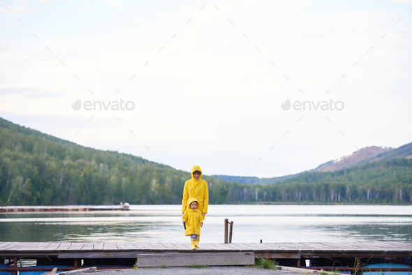 Walk by riverside - Stock Photo - Images