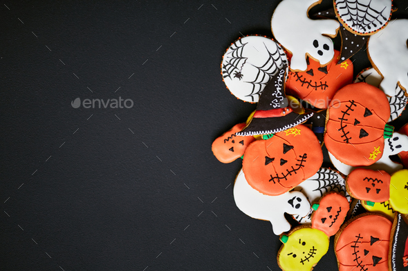 Trick-or-treat cookies - Stock Photo - Images