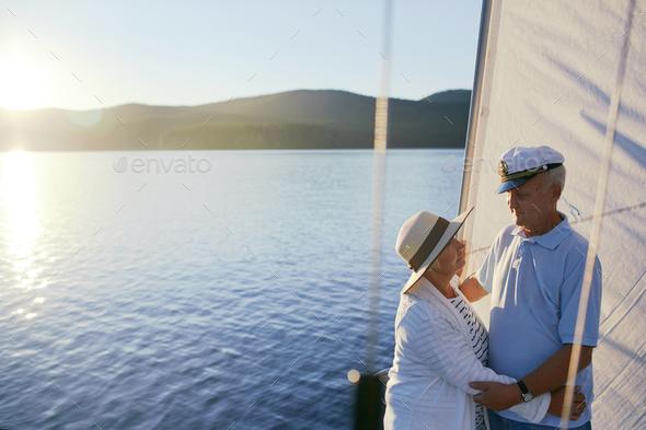Romantic seniors - Stock Photo - Images