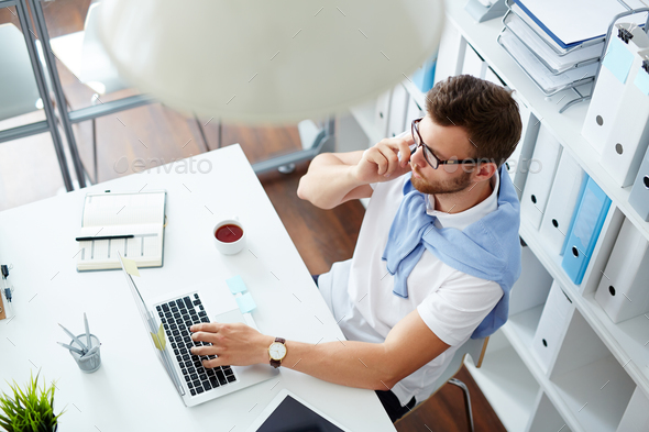 Busy specialist - Stock Photo - Images
