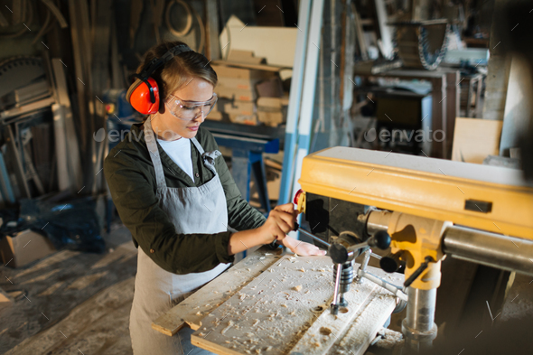 Carpenter woodworking - Stock Photo - Images