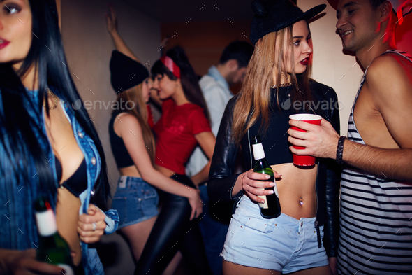 Late Night House Party - Stock Photo - Images