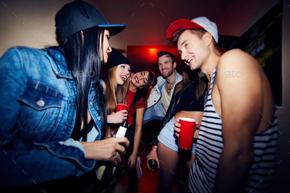 Friends Having Fun at Party - Stock Photo - Images