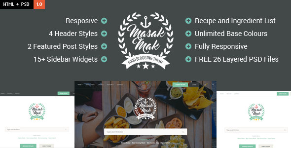 MasakMak - Food & Recipe HTML Template