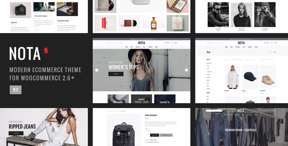 Nota – Creative Multi-Purpose eCommerce Theme