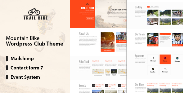 Trail Bike – WordPress Mountain Biking Club Theme