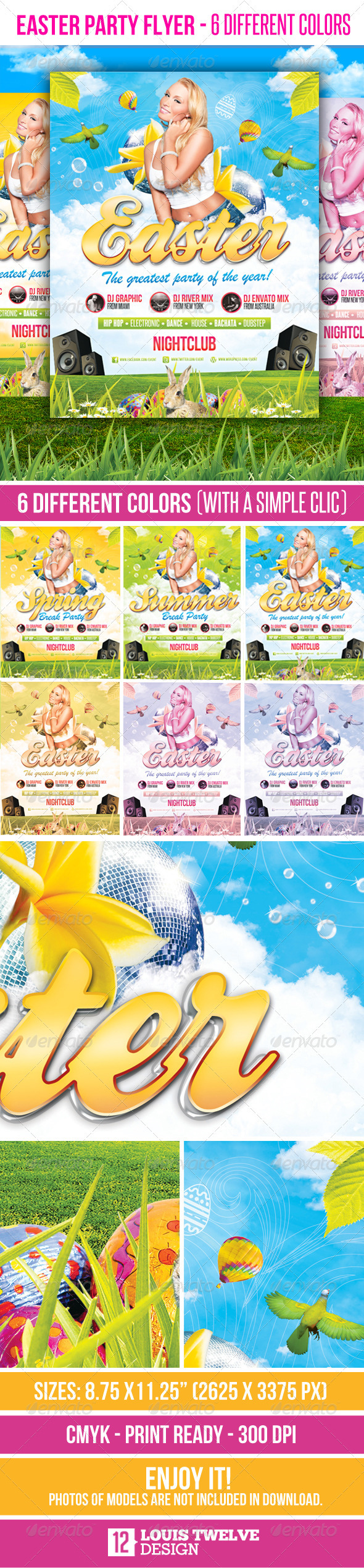 Easter Party - Flyer Template - Flyers Print Templates
