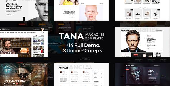 Tana Magazine - PSD Template - PSD Templates