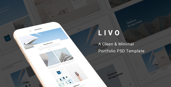 Livo – A Clean & Minimal Portfolio PSD Template