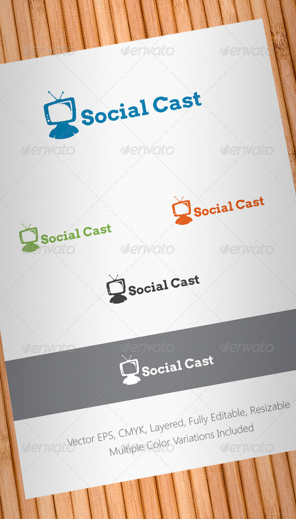 Social Cast Logo Template - Abstract Logo Templates