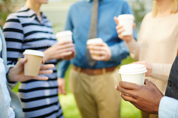 Coffee break with colleagues - Stock Photo - Images