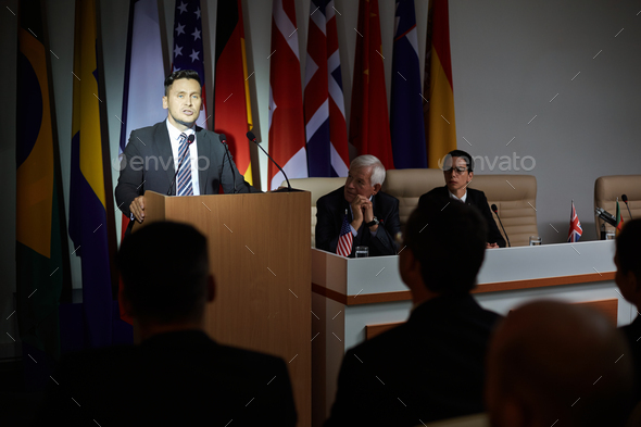 Politician address - Stock Photo - Images