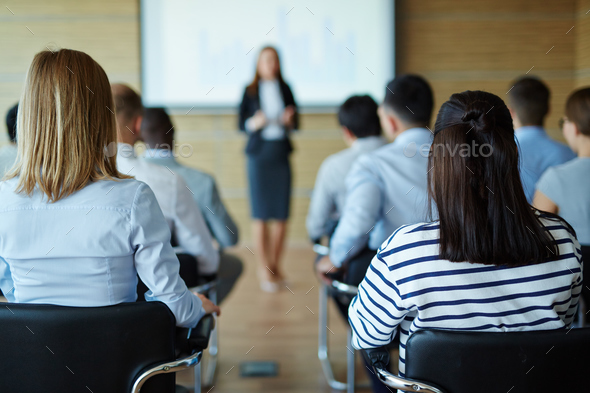 Lecture for business people - Stock Photo - Images