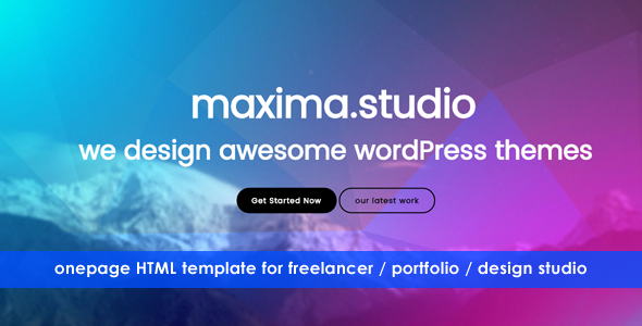 maxima – Perfect Onepage HTML Template for Small Businss, Freelancer, Web Developer