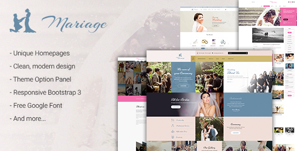 Mariage – Business & Wedding WordPress Theme
