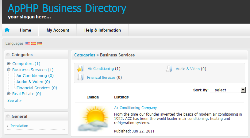 PHP Business Listings Classified Directory Script by apphpcc ...
