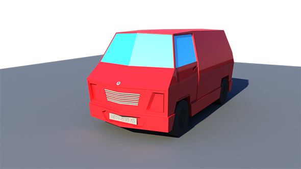 Low poly Van - 3DOcean Item for Sale