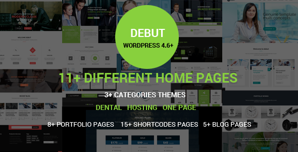 Debut - The Multi-Purpose Responsive WordPress Theme - Business Corporate