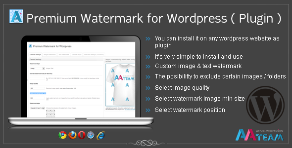 Premium Watermark for Wordpress (Plugin) - CodeCanyon Item for Sale