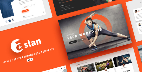 ASLAN - Modern Fitness WordPress Theme for Gym, Fitness Centers