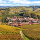 Town of Barolo among vineyards in Italy. - PhotoDune Item for Sale