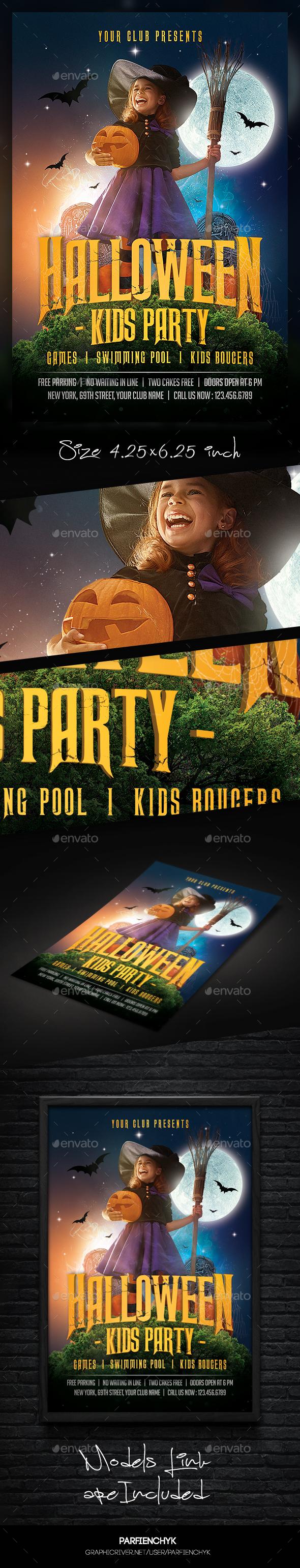 Kids Halloween Flyer - Clubs & Parties Events