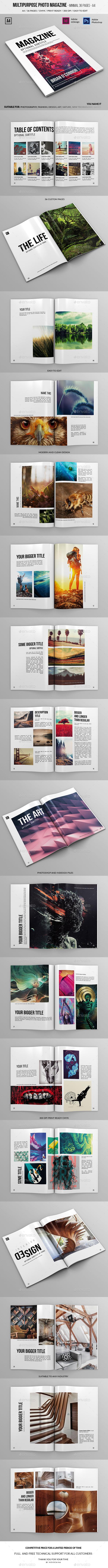 Multipurpose A4 Photo Magazine 36 Pages - Magazines Print Templates