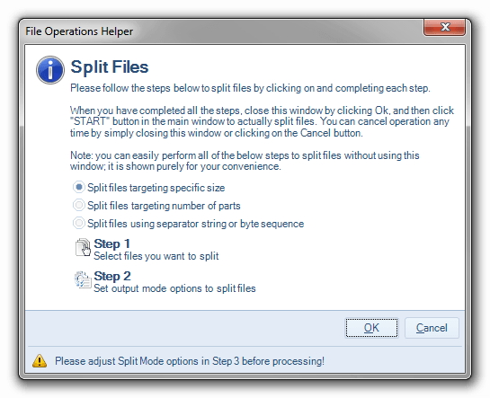 Batch File Split & Join