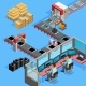 Conveyor Manufacturing Line Operators Isometric