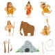 Stone Age Tribe People and Related Objects - GraphicRiver Item for Sale