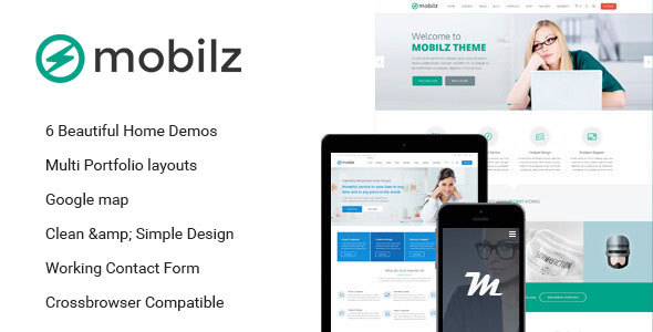 Mobilz - Responsive Multi-Purpose HTML Theme