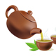 Pouring Green Tea in Cups - GraphicRiver Item for Sale