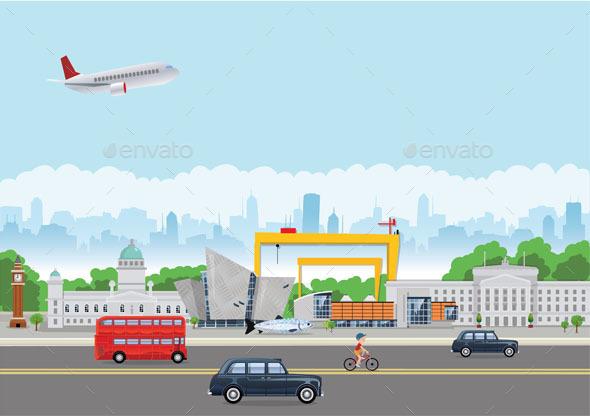 Belfast Landmarks - Buildings Objects