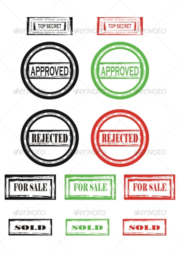 Set of stamps - Miscellaneous Vectors