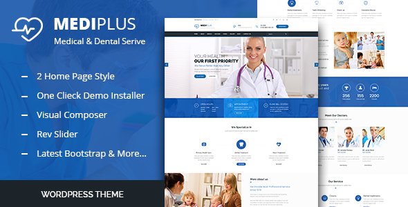 25+ Best Dental Care and Dentist WordPress Themes 2019 21