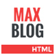 Max Blog - Fully Responsive Blog Template - ThemeForest Item for Sale