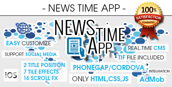 News Time App With CMS & Ads - iOS - CodeCanyon Item for Sale