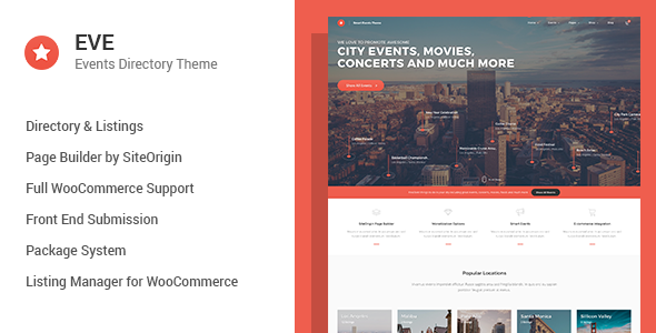 EVE - Events Directory WordPress Theme - Directory & Listings Corporate