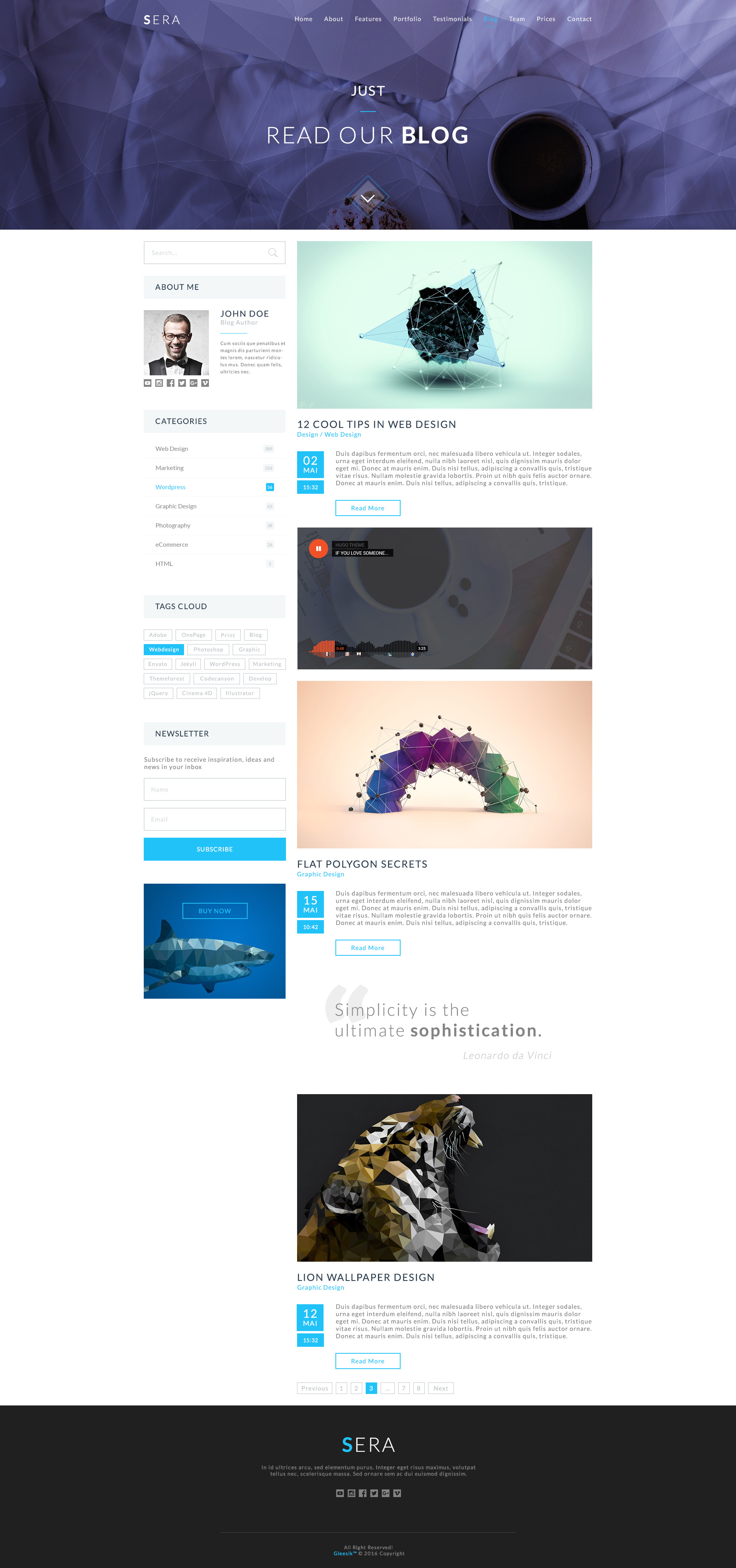 Sera onepage multi purpose html template