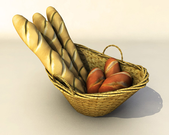 Bread Basket - 3DOcean Item for Sale
