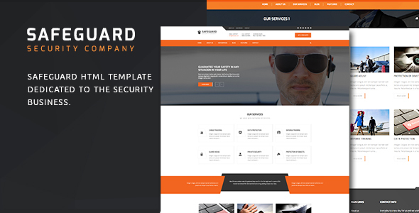 Safeguard – Security Services HTML Template