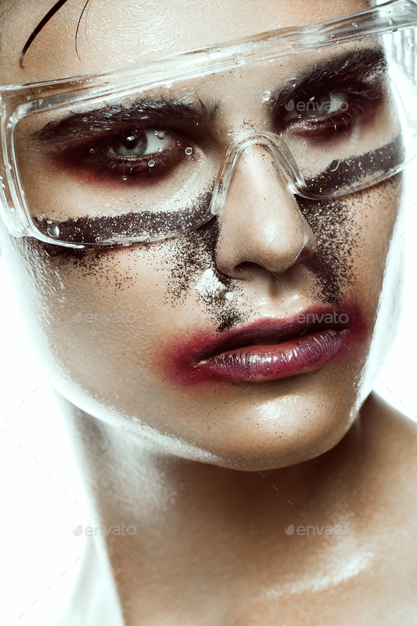 art man make up - Stock Photo - Images